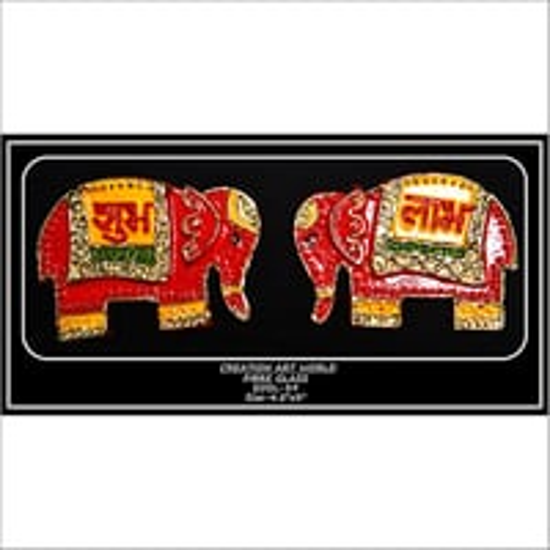 Elephant Design Shubh Labh Wall Hanging
