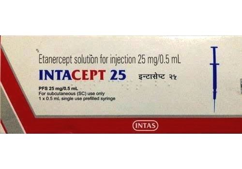 Intacept 25 Solution for Injection (Etanercept (25mg) - Intas Pharmaceuticals Ltd)