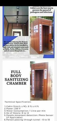 sanitizer Fumigation Chember