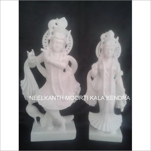 White Radha krishna murti