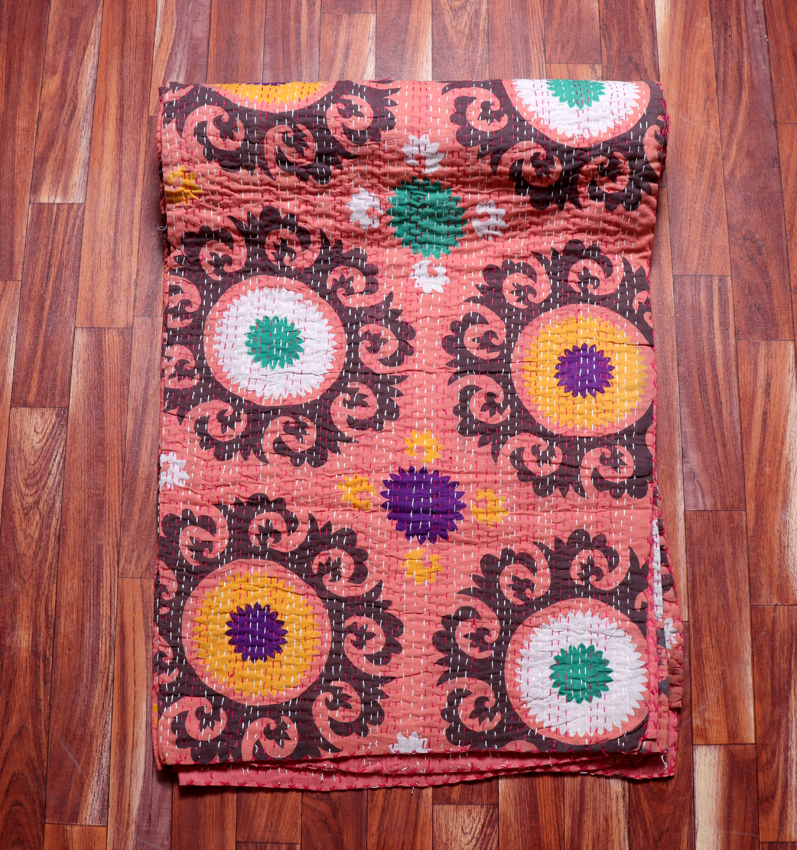 Suzani Kantha Bedcover Quilt