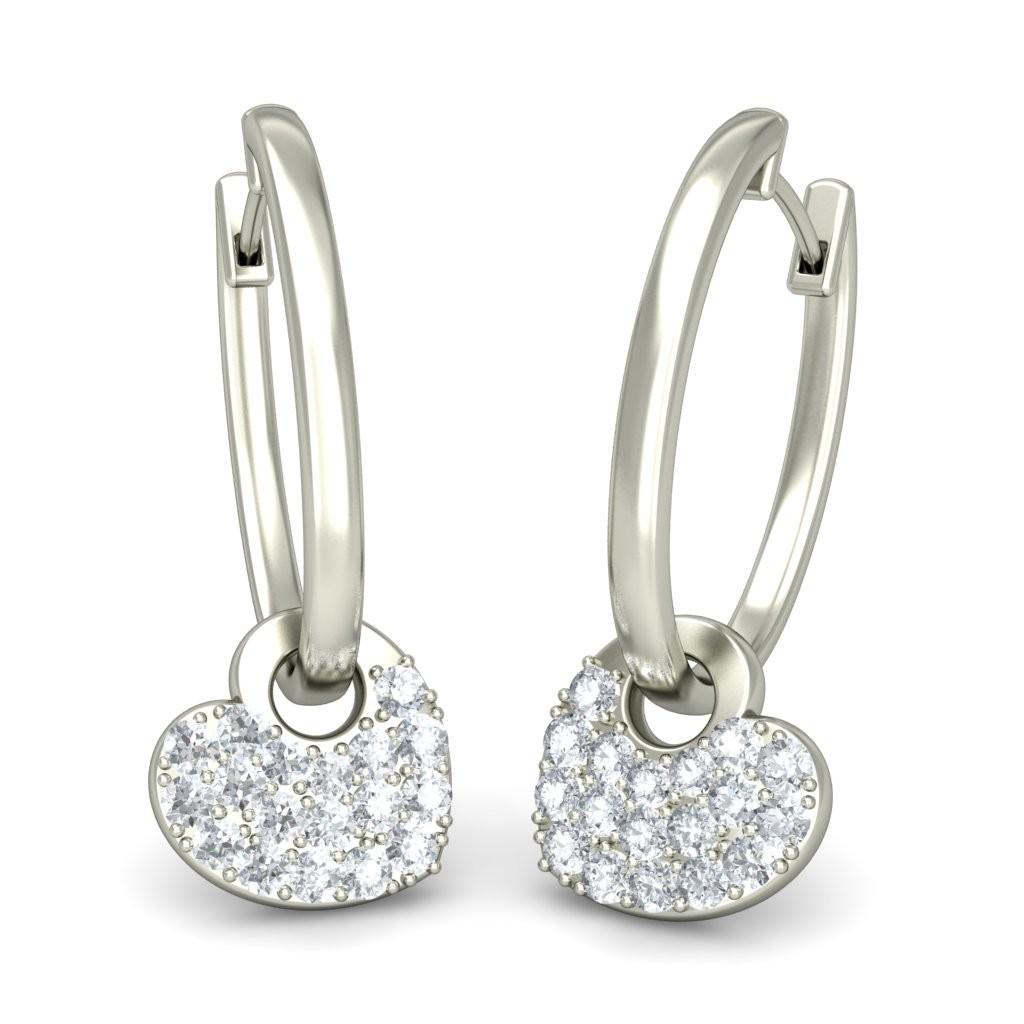 92.5 silver drop earring