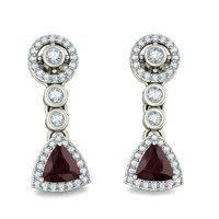 92.5 Sterling Silver Drop Earrings