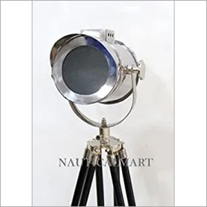 NauticalMart Nautical Designer Search Light Spotlight Wooden Tripod Floor Lamp