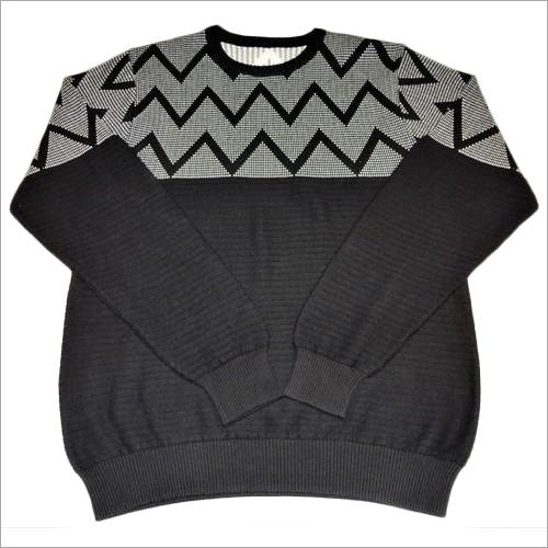 Men's Cotton Jacquard Sweater