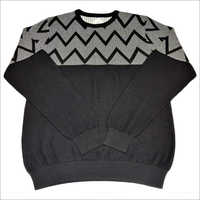 Men's Cotton Jacquard Sweater