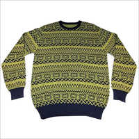 Designer Mens Jacquard Sweater