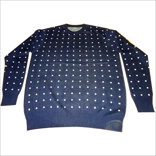 Mens Jacquard Cotton Sweater