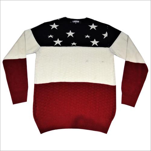 Designer Mens Jacquard Sweater