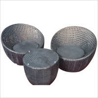 Outdoor Wicker Coffee Set