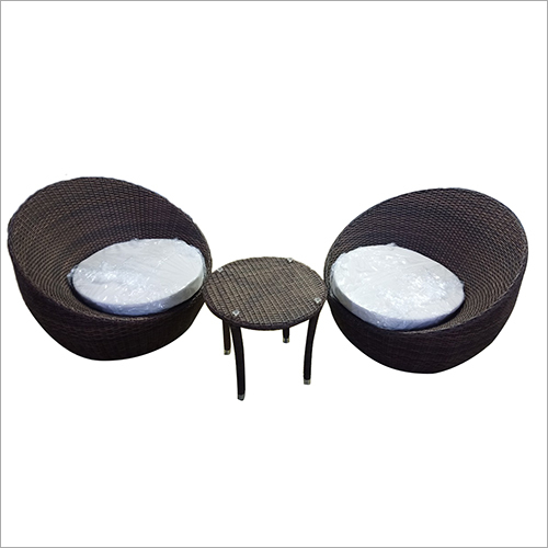 2 Seater Round Chair Coffee Set