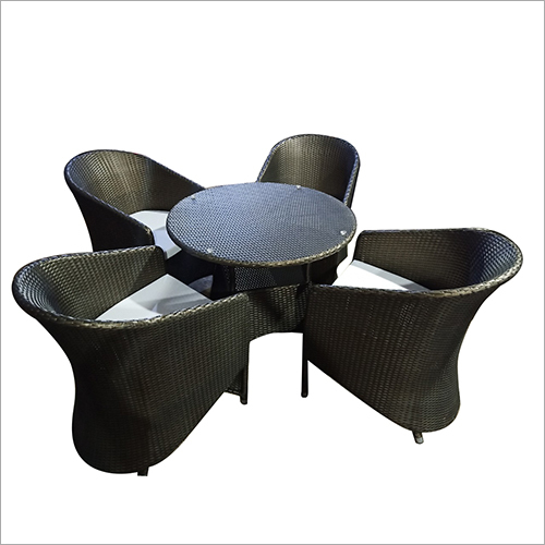 Outdoor Wicker Dining Table Set