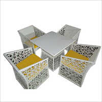 4 Seater Wicker Dining Table Set
