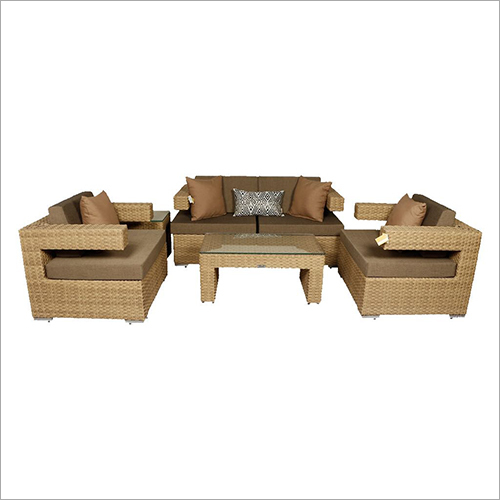 5 Seater Wicker Sofa Set