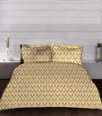 Antiquity King Size Double Bed Bedsheet With 2 Pillow Cover