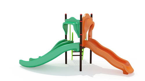 Freestanding Playground FRP Slides