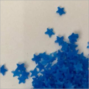 Blue Star Shaped Speckle