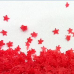 Red Star Shaped Speckle