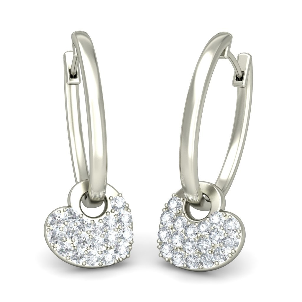 银色箍Huggie耳环