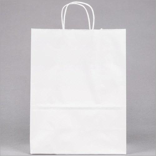 7X15 Inch White Kraft Paper Bags