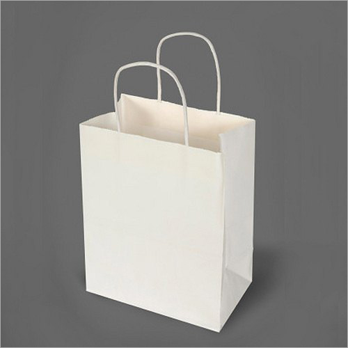 5X10 Inch White Kraft Paper Bag
