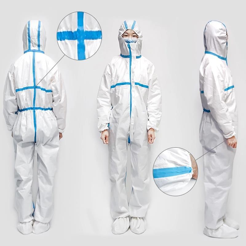 Blue Protective Suit Seam Sealing Tape is made of PEVA film backing with Compound rubber Base