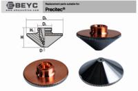 Ebeyc T2 T3 Copper Fiber Laser Nozzles Holder For Precitec Raytools Wsx Laser Cutter