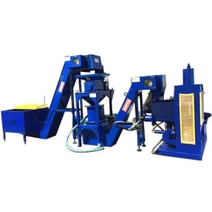 Hydraulic Briquetting Production Line With Shredder And Centrifugal Dryer