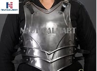 NauticalMart LARP Medieval Steel Armor Full Cuirass (Breastplate and Back Plate)