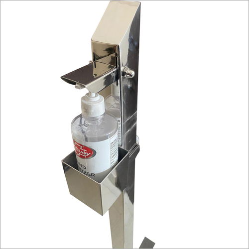 SS Foot Pedal Hand Sanitizer Stand