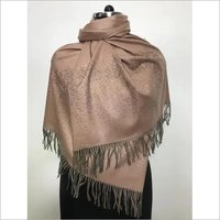 Natural Pashmina with crystal Border Stole , size-70x200cm