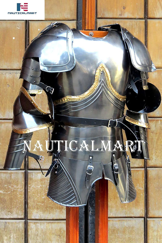 NauticalMart Medieval Breastplate Armour Black Knight Plate Armor