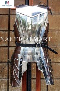 NauticalMart Medieval Steel Breastplate with Tasset Plate Armor Wearable Costume LARP