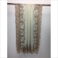 Pashmina French Lace With Crystal Stole , SIze-90x210cm