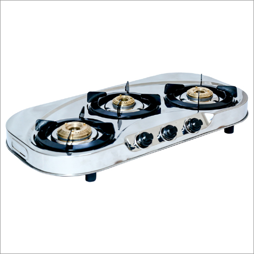 Three Burner Stainless Steel Gas Stove