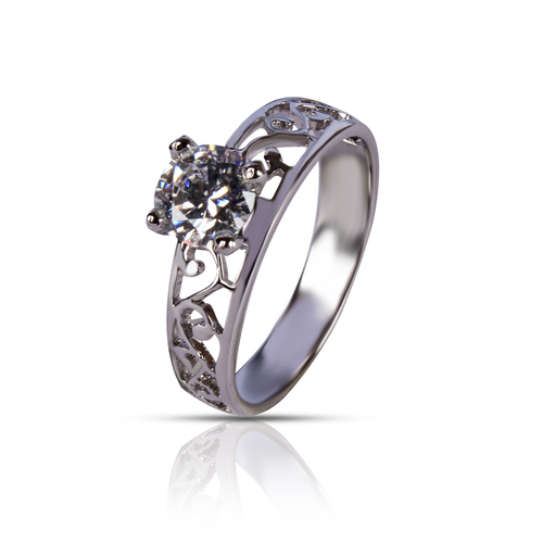 92.5 Silver Solitaire Ring