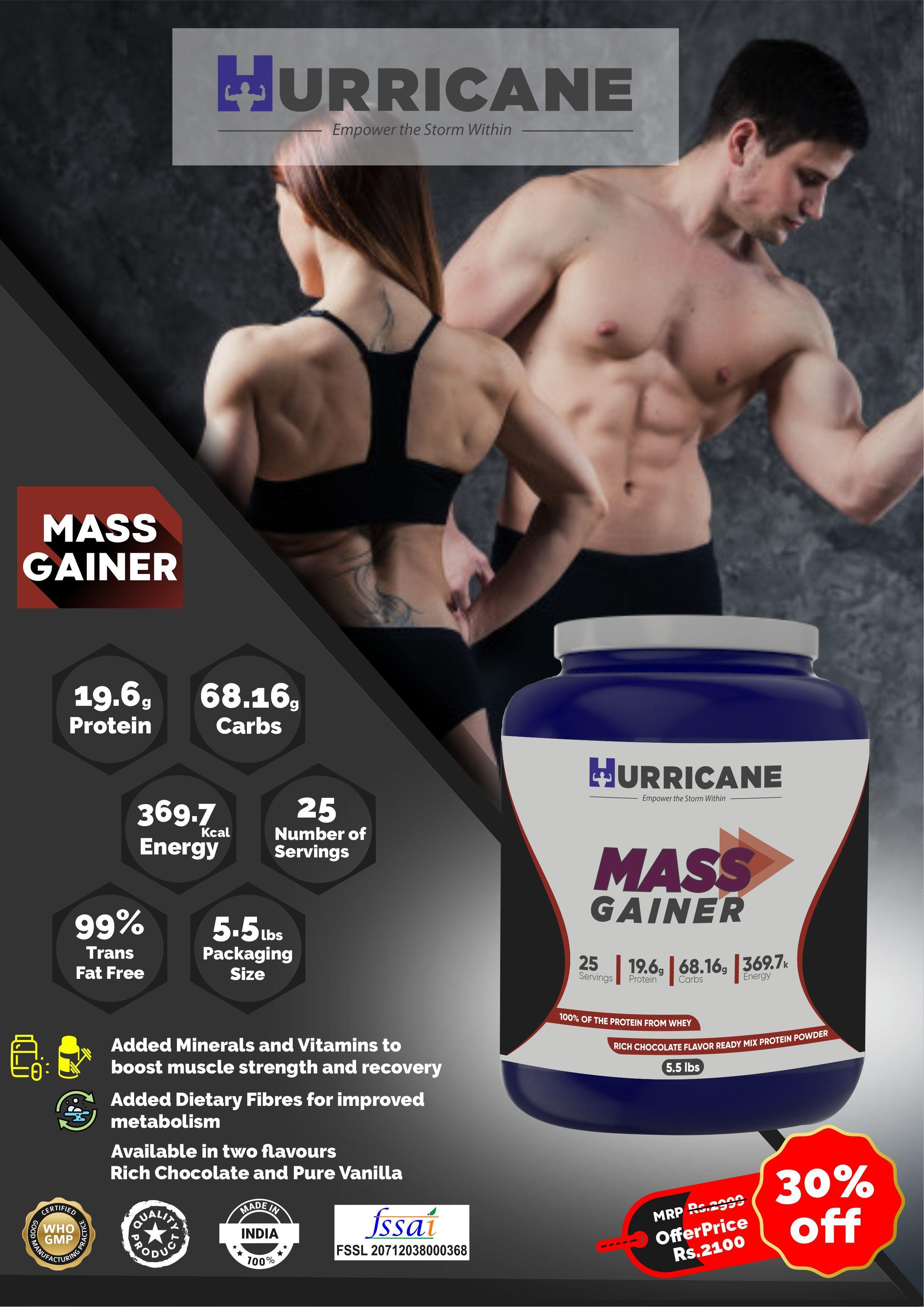 Hurricane Mass Gainer - Chocolate Flavour