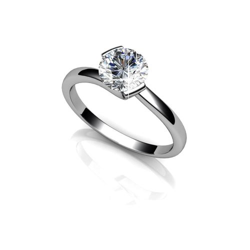 92.5 Sterling Silver Solitaire Rings