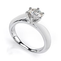 Solitaire Silver Rings