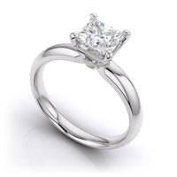 Silver Solitaire Female Ring