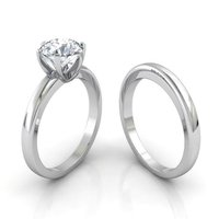 92.5 Sterling Silver Solitaire Women Rings