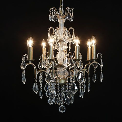 Modern Cut Glass Chandelier