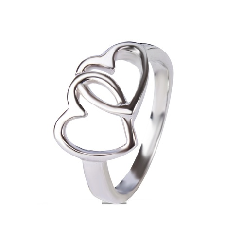 Silver Heart Shape Ring