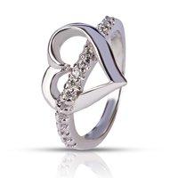 Silver Heart Shape Ring
