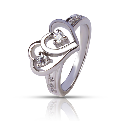 92.5 Silver Heart Shape Rings