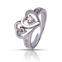 92.5 Silver Heart Shape Rings
