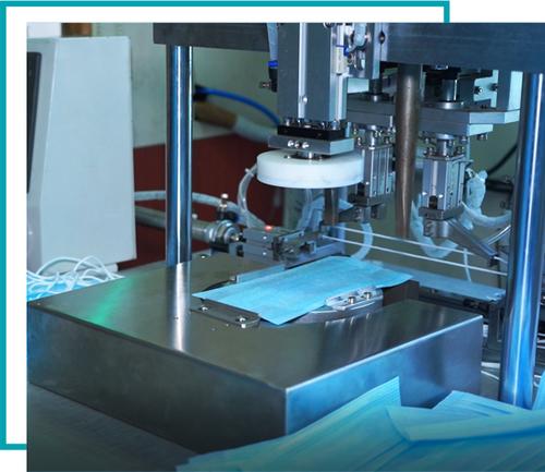 Double Head Earloop Ultrasonic Spot Welding Machine
