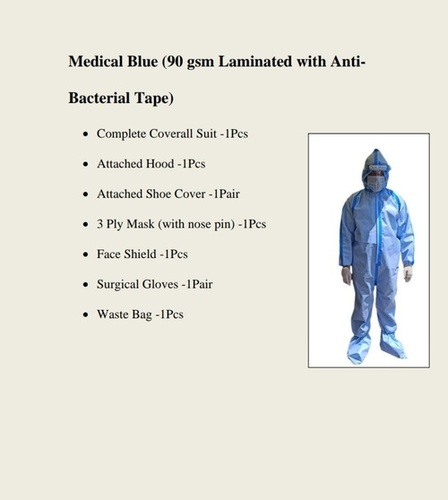 PPE Kit Laminated with Anti bacterial tape