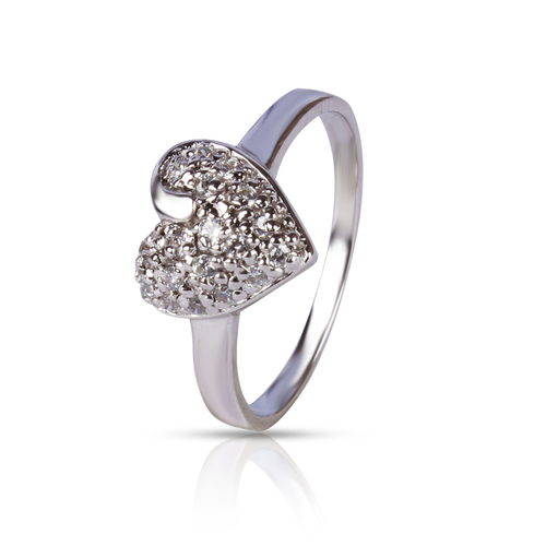 Heart Shape Silver Ring