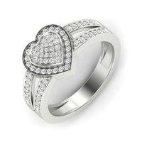 Sterling Silver 92.5 Heart Shape Rings
